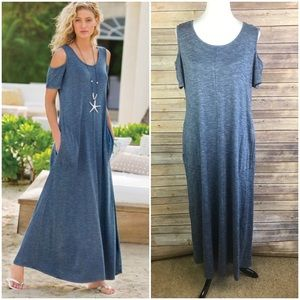 Soft Surroundings Electra Blue Maxi Dress